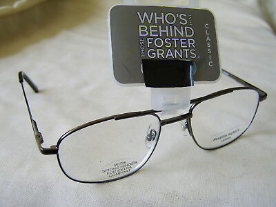 "Foster Grant ""Hardy""Metal Framed Unisex Reading Glasses"