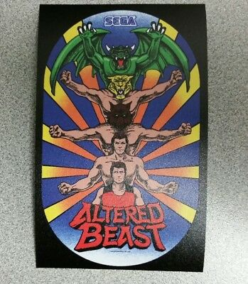 Altered Beast cabinet art sticker. 3 x 5. (Buy 3 stickers, GET ONE FREE!)