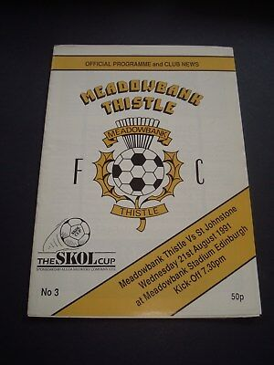 1991-92 Meadowbank Thistle v St.Johnstone (Skol Cup)