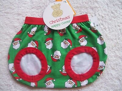 BNWT Baby Girl's/Boy's Unisex Christmas Nappy Cover Size 00