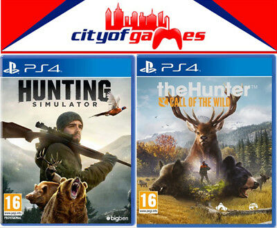 The Hunter Call of the Wild & Hunting Simulator PS4 Bundle New & Sealed In Stock