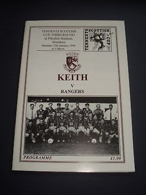 1995-96 Keith FC v Rangers (Scottish Cup Rd3)
