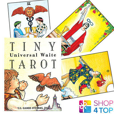 Tiny Universal Waite Tarot Deck Cards Esoteric Telling Mini Us Games Systems New