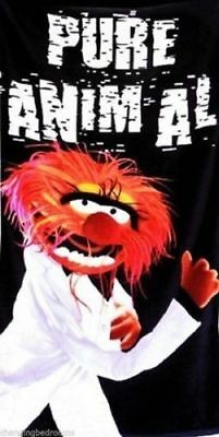 New The Muppets Pure Animal Funky 100% Cotton Soft Beach Towel Adults / Children