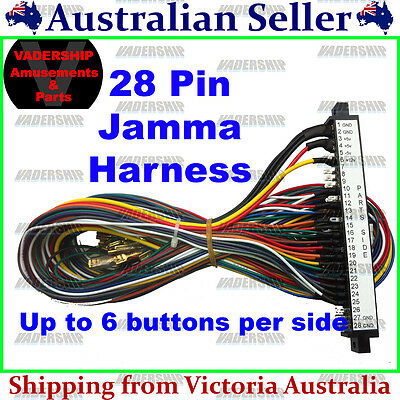 New: 28 Pin Jamma Harness Arcade Machines ~ PIN ID Lables on the Connector