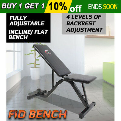 Fitness Flat Incline Weight Bench Press Adjustable Home Gym ExerciseEquipment