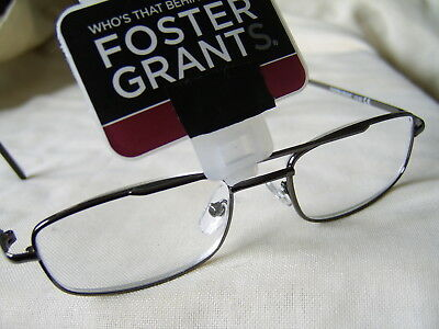 "Foster Grant""Fleming""Metal Framed Unisex Style Reading Glasses"