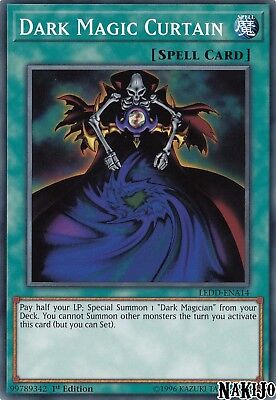 Yugioh - 3x Dark Magic Curtain LEDD-ENA14 Common - 1st Ed - NM/M