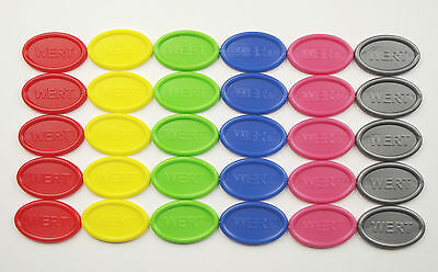 Tokens Deposit Coins Beverage Oval Quantities & Colours Selectable