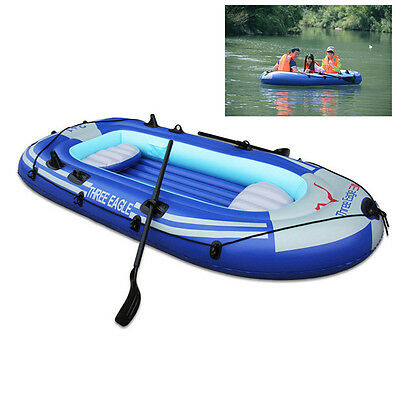 2/3 Person Inflatable Boat Dinghy Boat Raft Fishing Boating Roomy Sports Boat UK