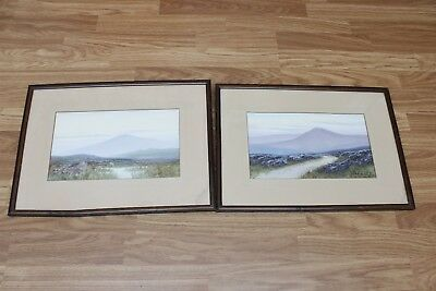 Pair of early 20th C Watercolour Paintings Signed  S. Miller