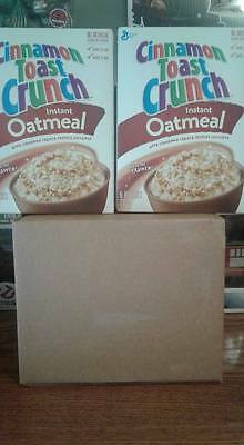 2 x 210g unopened boxes of Cinnamon Toast Crunch Instant Oatmeal