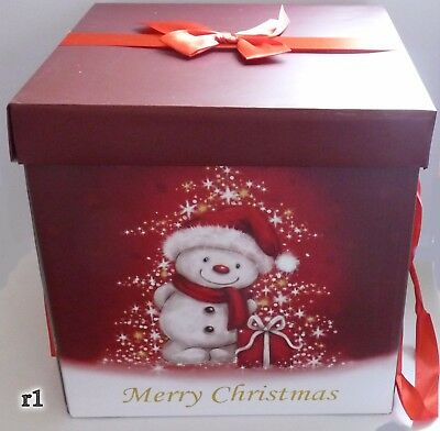 New Large 29cm Christmas Eve Box Wrapping Gift Box Case Packing Ribboned r1