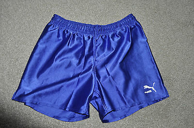 Vintage Puma Men's Running Sprinter Shorts, Blue, Size 26