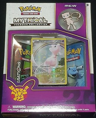 Pokemon 20th Anniversary Mythical Collection - Mew Pin Box Sealed