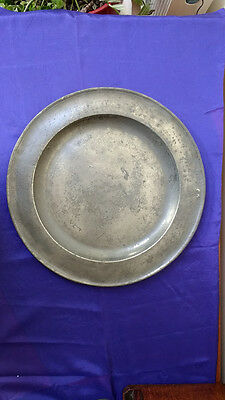 """Large Pewter Plate (16 5/8"""") by William Bartlett"""