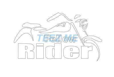 FELLOW RIDER Cut Vinyl Decal Sticker for Motorbike, Motorcycle, HARLEY, CRUISER