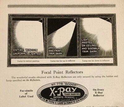 Antique Vintage 1919 X-Ray Reflectors Chicago Electric Show Lighting Catalog
