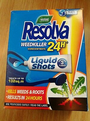 Resolva Weedkiller 24 Hour. (contains 3 Tubes)