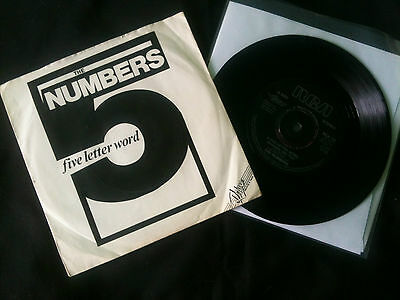 "The Numbers - Five Letter Word c/w Alone  7"" UK 1980 VG/VG+     # Power Pop"
