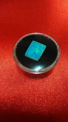 Qld. Boulder Crystal Opal  - 2.5 Carat Of Stunning Blue And Green Color Pipe