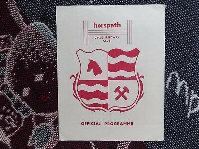 CYCLE SPEEDWAY PROGRAMME (NO DATE) - HORSPATH v NORWICH
