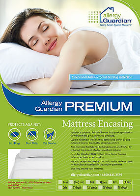 QUEEN MATTRESS Encasing - Anti Dust Mite and Bed Bug - Patented PRISTINE Fabric