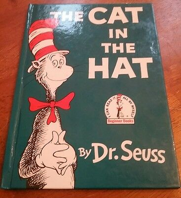 Dr. Seuss THE cat in the Hat book with Signed card from Seussville University