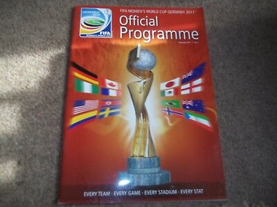 Fifa Womens World Cup Germany 2011 Official Programme June/july 2011