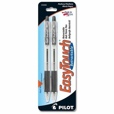 Pilot EasyTouch Medium Retractable Ball Point Pens Black 32260