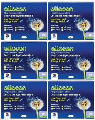 Cetirizine 10mg Hayfever and Allergy Relief 10mg 180 Tablets