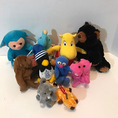Lot Of 10 Plush Stuffed Animals and Grover Some With Tag Ty and Others