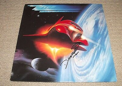 DUSTY HILL SIGNED - ZZ Top Afterburner Vinyl LP Record *AUTOGRAPHED*