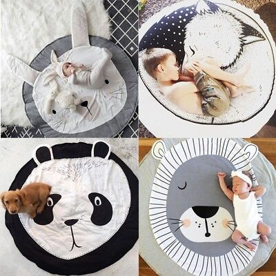 Soft Cotton Baby Kids Pet Game Gym Activity Play Mat Crawling Blanket Floor Rug