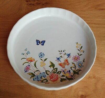 Aynsley Hystyle Oven to Tableware Flan Dish, Cottage Garden Design.