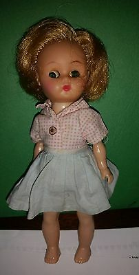 1960's 7 INCH GINGER DOLL by COSMOPOLITAN, Head moves as feet move