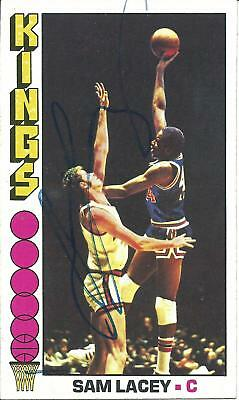 SAM LACEY KINGS 1976-77 TOPPS LARGE-SIZED CARD VINTAGE SIGNED IN-PERSON d. 2014