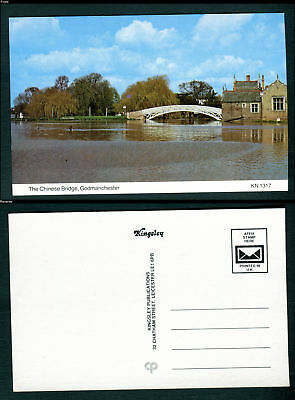 The Chinese Bridge, Godmanchester. Cambridgeshire. Kingsley postcard. Unused