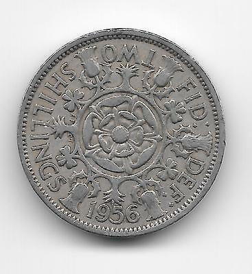 1956 British Florin, Two Shilling Piece ERII,  Very Good condition