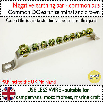 Earth Bar Vehicle Chassis Ground Point Common Negative Busbar DC Bus Camper