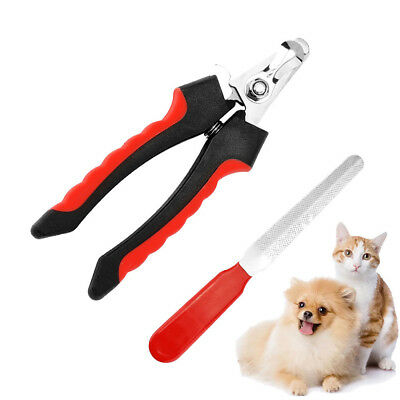 Pet Dog Cat Grooming Nail Toe Claw Clippers Scissors Trimmer Groomer Cutter S/L
