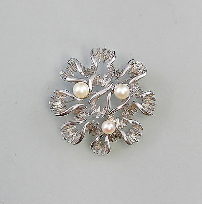 7925082 White gold Pearl brooch 585 WG white gold gold