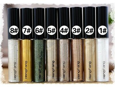 Glitter Metalic Eye Liner Makeup Natural Waterproof Shimmer White, Gold, Silver.