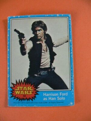 Star Wars. Topps Card. Harrison Ford as Han Solo. 1977. Number 58.