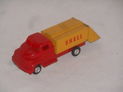 SHELL TANK - LKW -  VINTAGE TINTOY - 15,5 cm - WEST GERMANY - 16