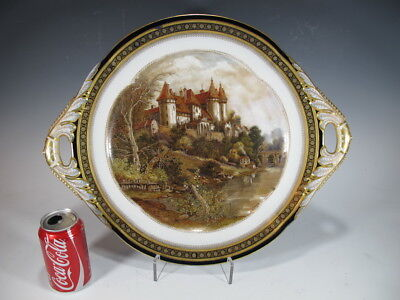 Antique French Sevres hand painted porcelain tray 11540a
