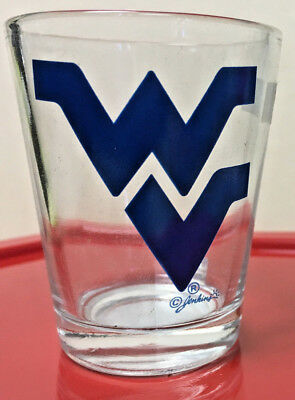 West Virginia University Souvenir Shot Glass Blue Flying WV