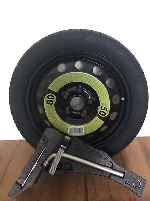 NEW space saver wheel and tyre for VW GOLF,TOURAN,SKODA,SEAT plus TOOL KIT &BOLT
