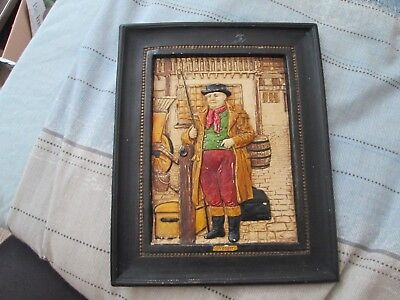 "Bretby Art Pottery Dickens Wall Plaque circa 1920 ""Weller"""