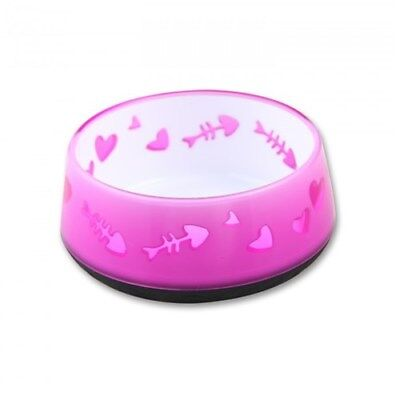 New All For Paws Kitty Love Cat Bowl Pink 12cm